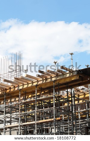 Construction at day in city - stock photo