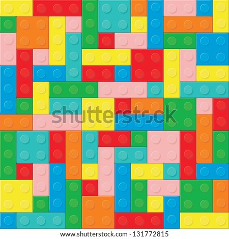 Construction blocks (removable pieces). Raster version, vector file available in portfolio. - stock photo