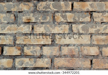 Construction brick wall texture background. Close-up.  - stock photo