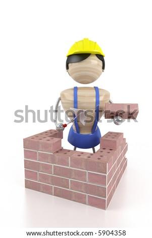 construction brickwork - stock photo