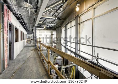 construction building site - stock photo