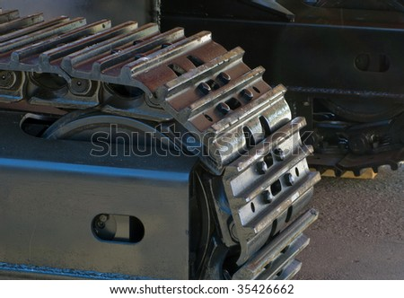 Construction caterpillar machine mover equipment - stock photo