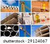 construction collage - high definition photo - stock photo