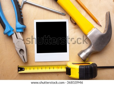 construction concept, black  blank for your logo or design - stock photo