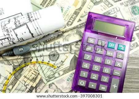 Construction costs - stock photo