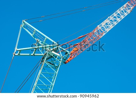 construction crane against a nice blue sky