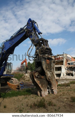 Construction demolition - stock photo