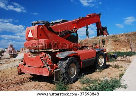 Construction equipment - modern machinery - stock photo