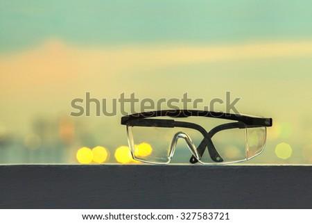 Construction Goggles - stock photo