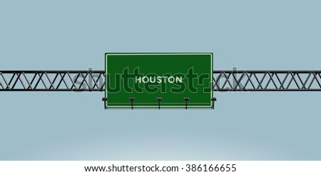 construction green road sign houston