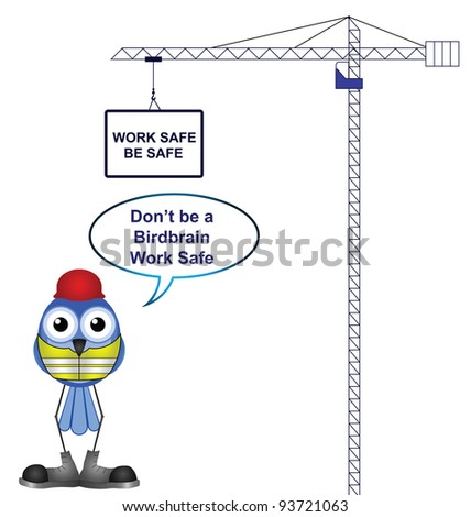 Construction health and safety work safe be safe - stock photo