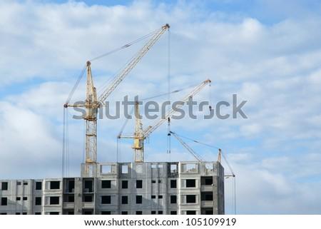 construction high-rise - stock photo