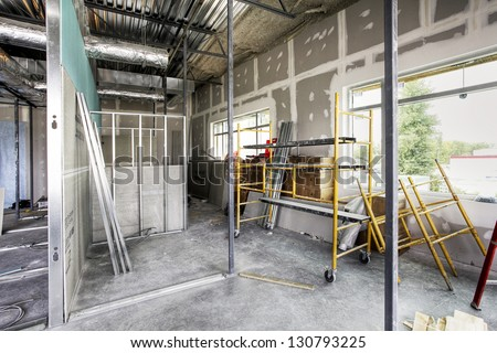 construction house - stock photo