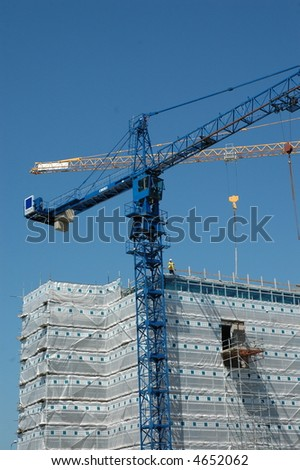 Construction in Jersey, Channel Islands - stock photo