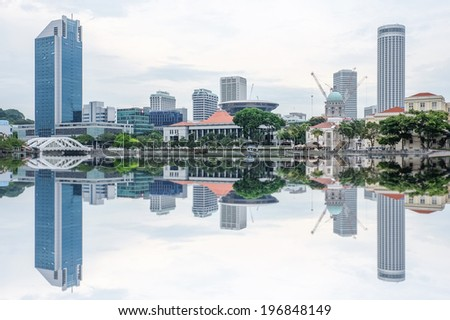 Construction in Singapore - stock photo