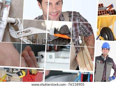 construction jobs - stock photo