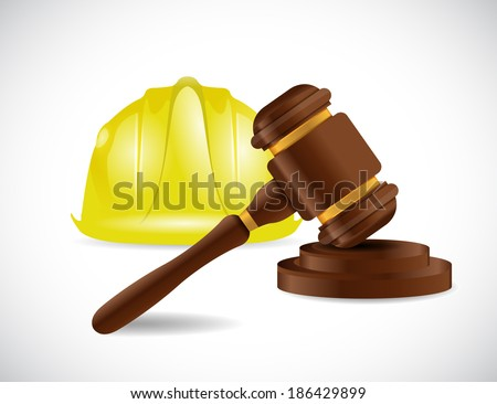 construction law illustration design over a white background - stock photo