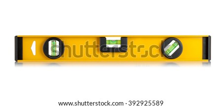 construction level  on a white background - stock photo