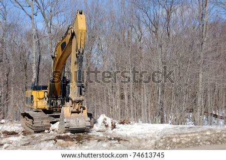 Construction machinery for road work - stock photo