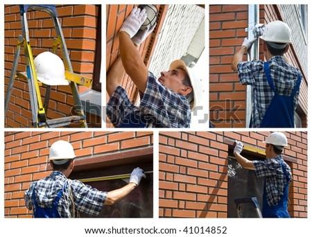 Construction man - stock photo