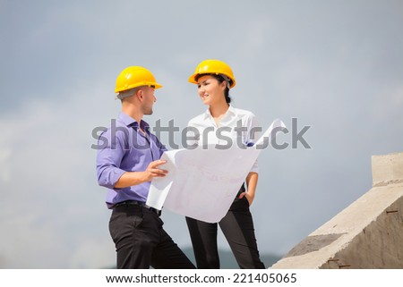 Construction Manager Engineer Woman Working On Stock Photo ...