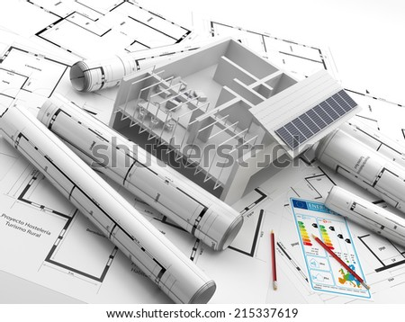 Construction of a building. Renewable energy. Energy Saving. Real Estate in Europe