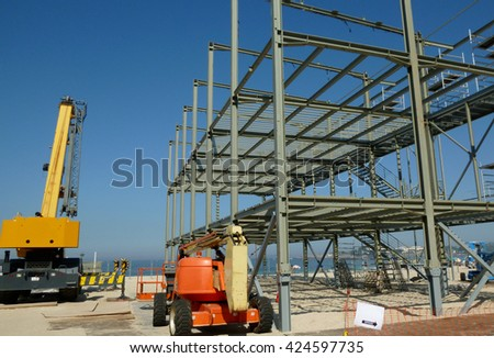 Construction of a metallic structure.