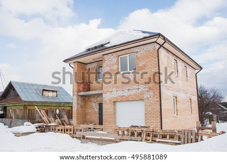 Construction of a new cottage with infringement of technology