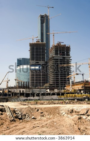 "Construction of a new modern business centre ""Moscow City"" in Moscow (Russia)"