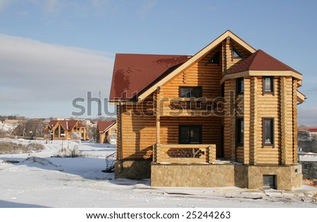 Construction of a non-polluting new wooden house