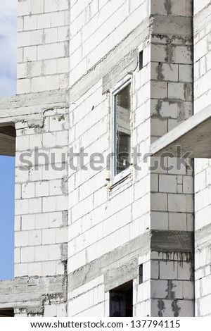 Construction of a residential building - stock photo