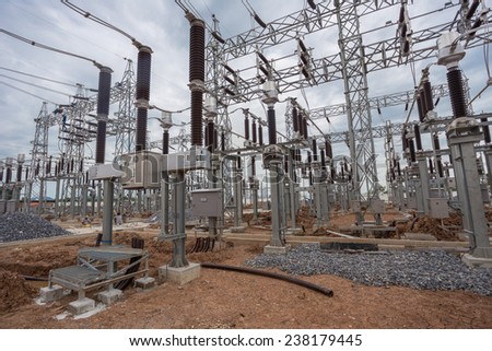 Construction of 115 kV high-voltage electric substation