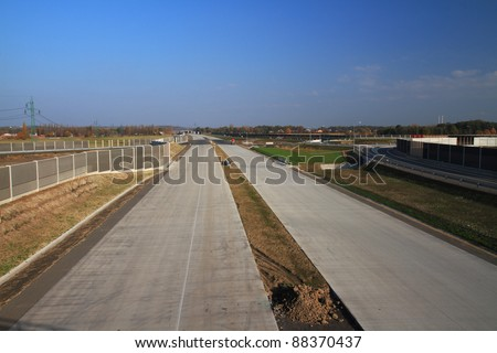 Construction of new highway between Poland and Czech.