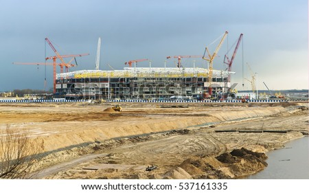 construction of sports facilities, a large construction project, the construction of sports facilities construction work