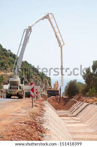 construction of the canal - stock photo