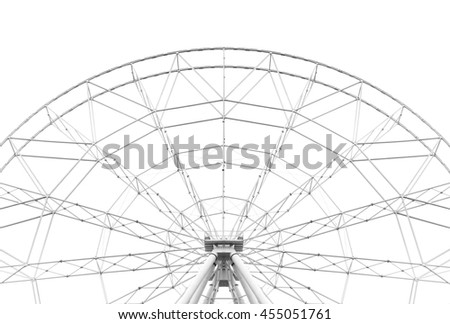 Construction of the Ferris wheel