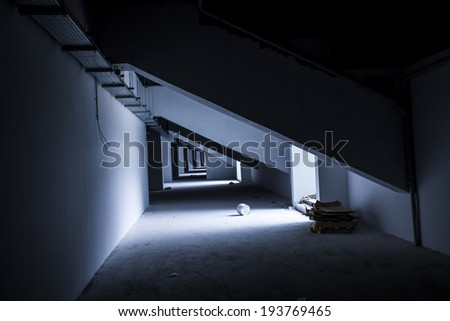 construction of the light filtering - stock photo
