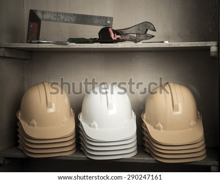 Construction on the hat rack - stock photo