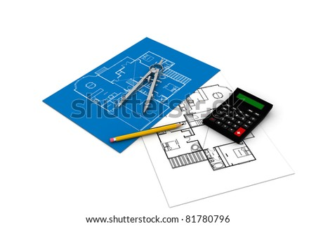 Construction plans with tools