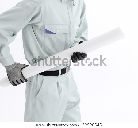 Construction project architect - stock photo