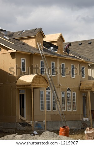 construction roofing. - stock photo