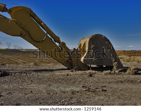 construction scoop - stock photo