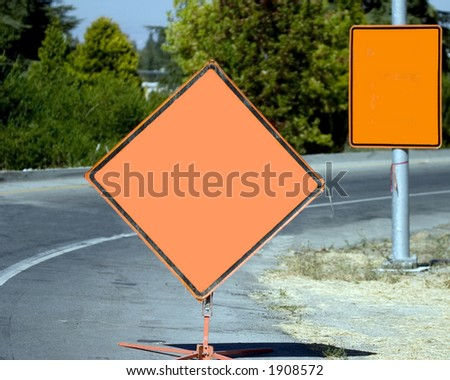 construction sign - add your own text! - stock photo