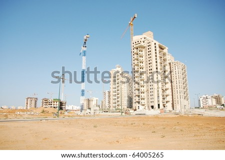 construction site - stock photo