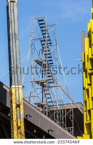 construction site at working time - stock photo
