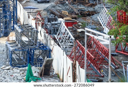 Construction site background - stock photo