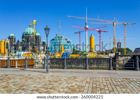 Construction site, Berlin Palace - stock photo