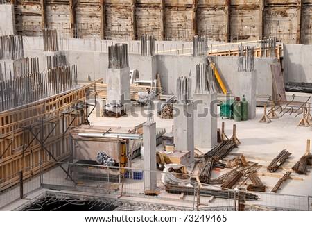 Construction Site for New Condo development - stock photo
