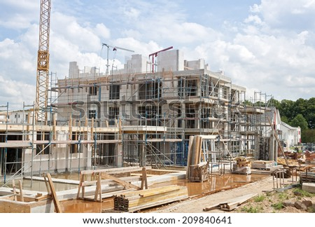 construction site, home - stock photo