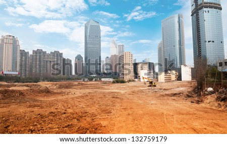 Construction Site in - stock photo